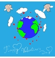 Happy Valentines day Cupid vector image vector image