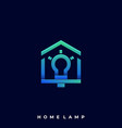 home lamp template vector image