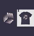 humans graphic mens three dimensional t-shirt vector image vector image