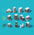 isometric city 3d building and houses with urban vector image