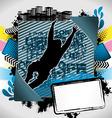 jumping man summer frame vector image vector image