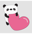 Kawaii panda baby bear Cute cartoon character vector image vector image