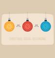 keep social distance merry christmas banner vector image vector image