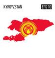 kyrgyzstan map border with flag eps10 vector image vector image
