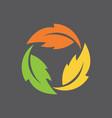 leaf infinity symbol vector image vector image
