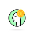 linear rich man like round logo vector image vector image