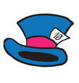mad hatters hat vector image vector image