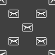 Mail Envelope Message icon sign Seamless pattern vector image vector image