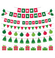 merry christmas banners and holiday decoration vector image vector image
