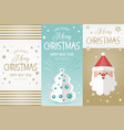 merry christmas greeting banners vector image vector image