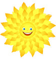 merry happy sun with rays vector image vector image