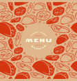 mexican menu label and frame with pattern vector image vector image
