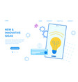new and innovative ideas concept with light bulb vector image vector image