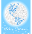 Planet made from snowflakes vector image vector image