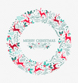 Retro Christmas wreath decoration with ornaments vector image vector image