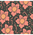 seamless pattern dark vector image vector image
