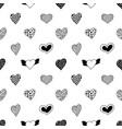 seamless pattern hand drawn hearts vector image vector image