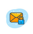 secure mail icon on white vector image