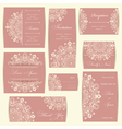 Set of wedding invitation cards vector image