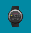 smartwatch wearable technology flat icon vector image vector image