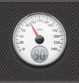 speedometer round white gauge with chrome frame vector image vector image