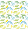 spring colorfull leaves abstract seamless pattern vector image vector image