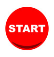 start button icon flat vector image