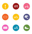 street sport icons set flat style vector image