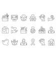 symbols of volunteers and charities organisations vector image