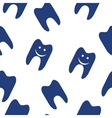 Tooth seamless pattern for web design vector image vector image