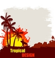 Tropical design poster vector image
