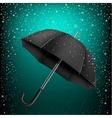 umbrella and azure snow background vector image