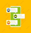 user reviews online customer feedback review vector image vector image