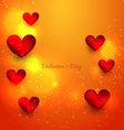 valentine day beautiful heart vector image vector image