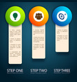 vertical band steps concept vector image