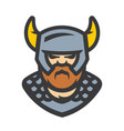 viking warrior cartoon vector image