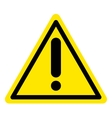 warning attention sign vector image vector image