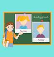 yearbook for school about schoolboy vector image vector image
