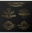 Set of vintage gold labels vector image