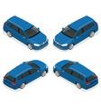 5-door hatchback car isolated isometric vector image