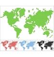 Set of dot world map vector image