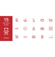 15 child icons vector image vector image