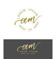 a m initials monogram logo design dry brush vector image vector image