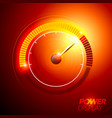 abstract car fuel power speedometer vector image