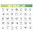allergen ingredients icons vector image