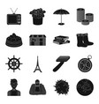 astronomy memory travel and other web icon in vector image vector image