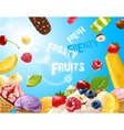 background delicious ice cream vector image vector image