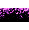 Black starry banner vector image vector image