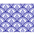 blue and white damask pattern vector image vector image