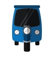 blue motor rickshaw transport tricycle vector image
